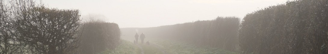 A misty walk along the path to Hunstanton